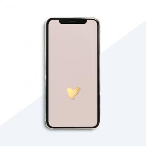 Studio Jot'm freebies - Iphone achtergrond hart - roze