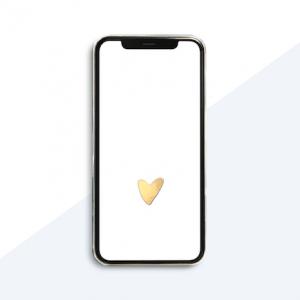 Studio Jot'm freebies - Iphone achtergrond hart - wit