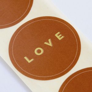 1962 love sticker brons-goud studio jotm