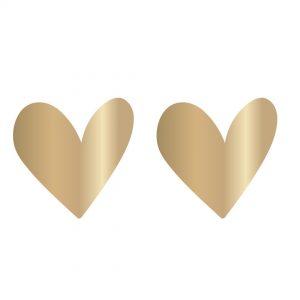 2082 set van 10 stickers gouden hart