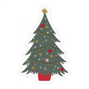 2083 kerstboom stickers set van 5