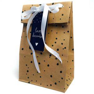 2094 studio jot'm - Kraft papieren zakken Bruin - Dots Zwart