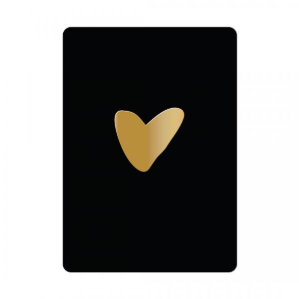 2097 studio jot'm kaart zwart met gouden hart